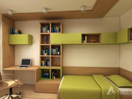 Guest Bedroom / Home Office by adorodesign