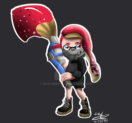 Inkling Girl with Brush by DasCreepy