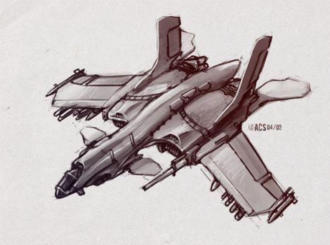 Ground Attack Fighter by Shimmering-Sword