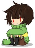 Glitchy Chara by DerseDragon