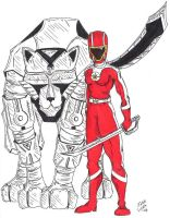 Red Ranger Mars by JohntheSilver