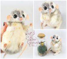 Chip the Chubby Rat - Poseable Fantasy Creature by RikerCreatures
