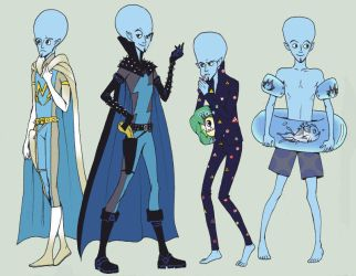 Megamind Dress up by LadyDeadPooly