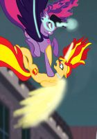 Midnight Twilight Sparkle VS Sunset Shimmer MLP by Mlpchannelglory999