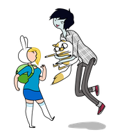 Fionna and Marshall Lee by Luuandherdraws