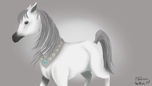 Arabian Horse (Themed as Platinum Feather) by PlatinumFeather2002