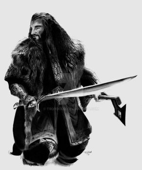 Thorin Oakenshield small by troydodd