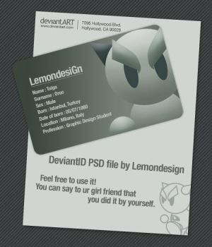 Deviant-ID PSD by lemondesign