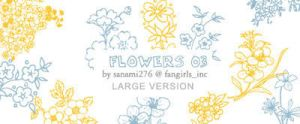 flower brushes 03, large by Sanami276