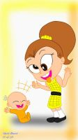 Young Luan and Baby Lincoln by ReedAhmad