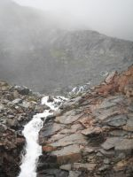 Waterfall at Crow's Pass 2 by prints-of-stock