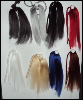 Colors Available for Key Chain Tails by Vwerewolf
