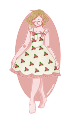 Floral Dress by saxagenia