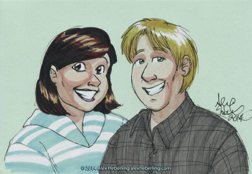 Kelly and Matt by alex-heberling