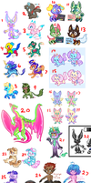 UNSOLD ADOPTS, sale and accepting art! [open] by MightbeBianca