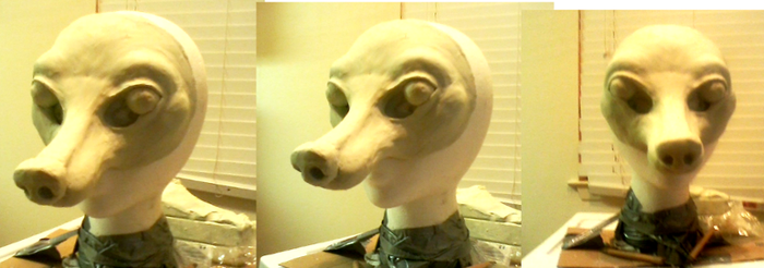 Rough clay work, Fox mask! by nagowteena101