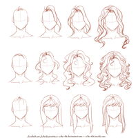 How I draw long hair by NikeMV