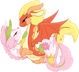 Sock Dragon Couple by SmallSpiritGraphics