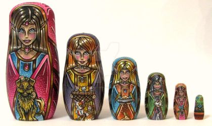 Fairy Matryoshkas by Cyanidenight