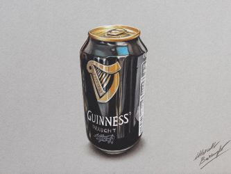 Can of Guinness DRAWING by Marcello Barenghi by marcellobarenghi