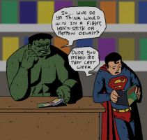 Hulk vs Superman by Kid-With-The-Hat