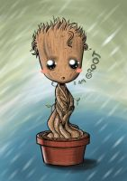 Baby Groot-Guardians of the Galaxy by Damian-Diaz