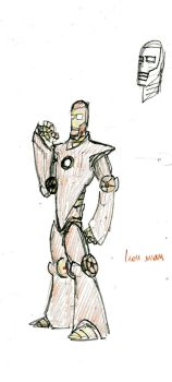 Iron Man redesign quick sketch by JaKobShEeP