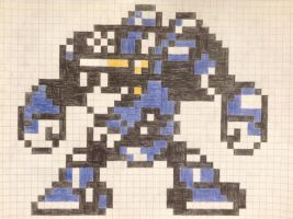 Mega Man 8-bit Turbo Man by Megaawesomedude4