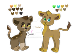 Baako and Sekayi cubs by DualJewels