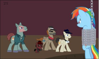 Rainbow Dash Captured By Foal Face And His Troops by Zacharygoblin55