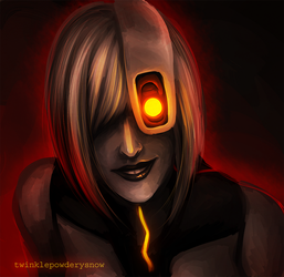 Creeepy GLaDOS by TwinklePowderySnow