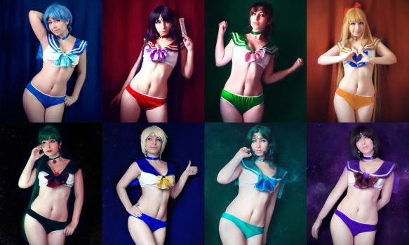 Sailor Scouts by MaryMagika
