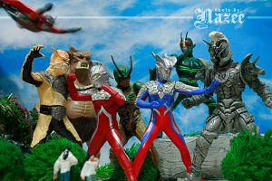 Ultraman and Kamen Riders 1 by nazee-conquers-hades