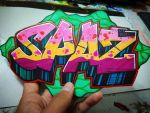 Cut-Out Straight Letter by SilverSpaz