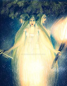Hecate, the golden midnight light by Feles85