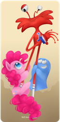 pinkie meets her Foster brothers by Mn27