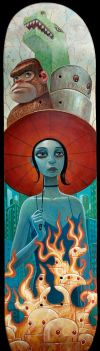 Monsters Above, Fire Below by jasinski