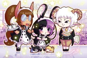 #145 Q little Bunny Maid by ChosenVowels