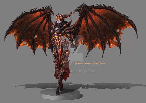 Merciless Deathwing - Queen of Death by Cinderys