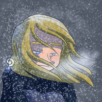 Lily in the Snow by curiousdoodler