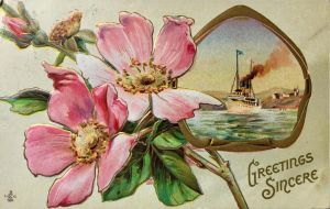 Steamship Greetings Sincere by Yesterdays-Paper
