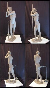 Standing male sculpture by gennady