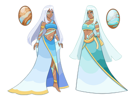 The Off-Color Court: Off-Colored Opals by GatlingPea32