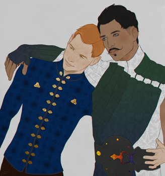 [Commission] Fawkes Trevelyan and Dorian Pavus by elyhumanoid