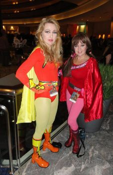 Electra Woman and Dyna Girl Cosplay by The-Mind-Controller