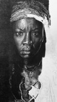 Michonne WIP by brailynne