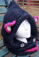 Starry Twilight with Azalea Knitted Fox Hoods by Arexandria