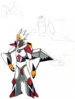 Egyptian Vulture Robot color by Talec