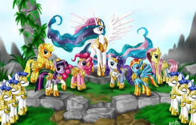 MLP : Knights of Harmony by Kroliath