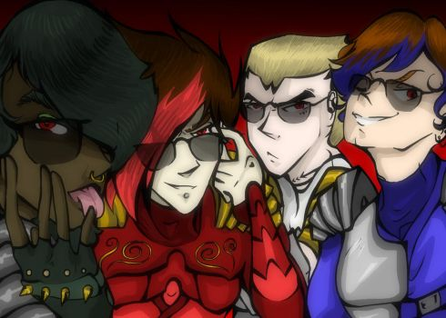 NinjaGo! Squad Drawing Tag (vol II) by StoneByrd